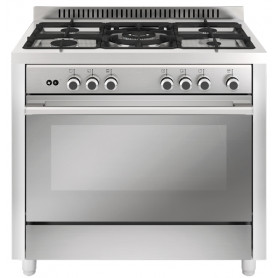COCINA VITROKITCHEN MX96IN MATRIX 90X60 INOX 5 FUEGOS NATURAL PARRILLAS FUNDICION HORNO GAS VENTILADO